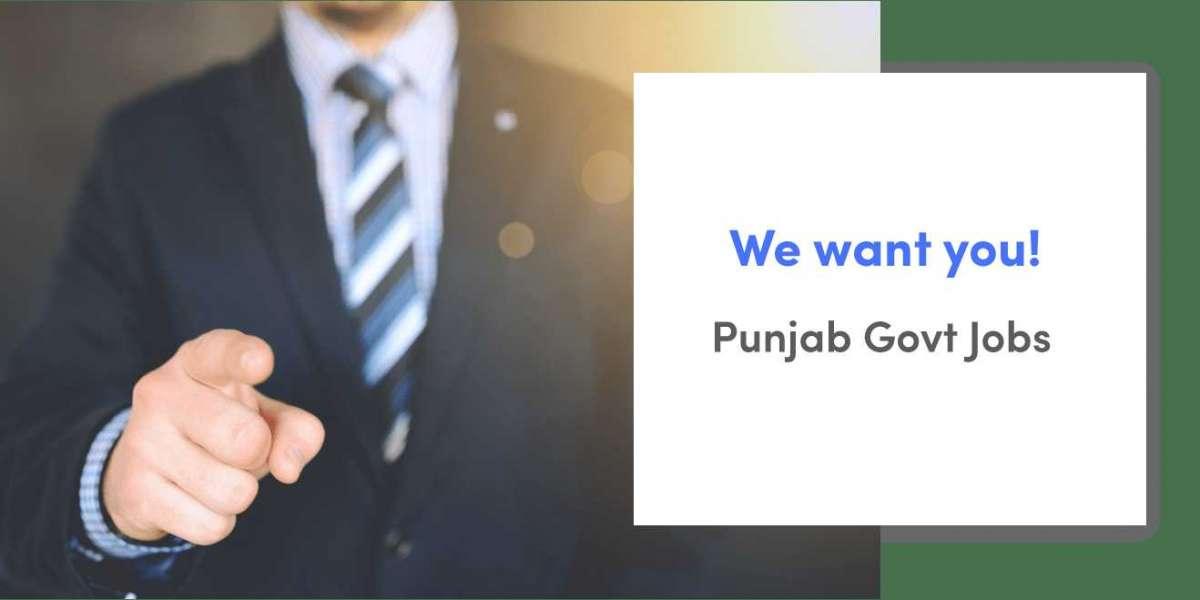 Latest Punjab Govt Jobs